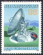 Austria 1980 Aflenz Satellite Communications Earth Station/ Radio Dish Aerial/ Telecomms 1v (n42560)