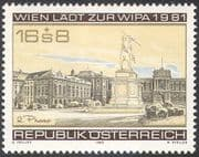 """Austria 1980 WIPA/ StampEx/ Buildings/ Statue/ Architecture/ """"Phase 2"""" 1v (n42683)"""