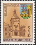 Austria 1984 Vocklabruch/ Town Gate/ Clock Tower/ Buildings/ Architecture/ History/ Heritage 1v (at1006a)