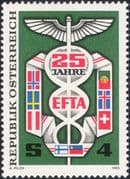 Austria 1985 EFTA 25th Anniversary/ Trade/ Commerce/ Business/ National Flags 1v (at1152a)
