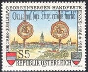Austria 1986 Enns/ State Seals/ Town Buildings/ Clock Tower/ Architecture 1v (n42993)