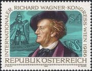 Austria 1986 Richard Wagner/ Composers/ Music/ Opera/ People/ Swan 1v (at1149a)