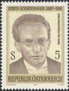 Austria 1987 Erwin Schrodinger/ Physicist/ Physics/ Science/ People 1v (at1138a)