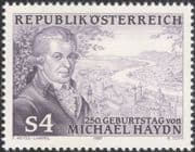 Austria 1987 M Haydn/ Composers/ Music/ Musicians/ Entertainment/ People 1v (at1136a)