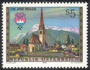 Austria 1988 Brixlegg/ Church/ Clock Tower/ Town Buildings/ History/ Architecture/ Heritage 1v (n42997)