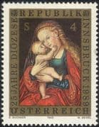 Austria 1989 Innsbruck Diocese 25th Anniversary/ Madonna/ Art/ Paintings/ L Cranach/ Artists/ Painters 1v (at1072a)