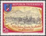 Austria 1989 St Andra/ Church/ Clock Tower/ Buildings/ Architecture/ Heritage 1v (at1139a)