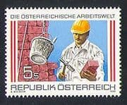 Austria 1989 Workers  /  Industry  /  Bricklayer 1v (n32319)