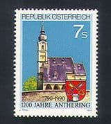Austria 1990 Anthering  /  Buildings  /  Architecture  /  Church  /  Animation 1v (n33652)