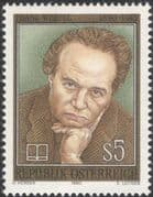 Austria 1990 Franz Werfel/ Writer/ Authors/ Writers/ Books/ Literature/ People 1v (at1095a)