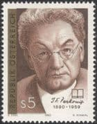 Austria 1990 Josef Perkonig/ Writer/ Authors/ Writers/ Books/ Literature/ People 1v (at1092a)