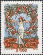 Austria 1990 Labour Day 100th Anniversary/ Workers/ People/ Business/ Trades Unions 1v (at1082a)
