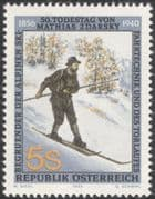 Austria 1990 Mathias Zdarsky/ Alpine Skiing/ Ski/ Winter Sports/ People 1v (at1086a)