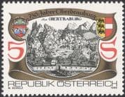 Austria 1990 Oberdrauburg 750th Anniversary/ Buildings/ Architecture/ Heritage/ Animation 1v (at1094a)