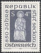 Austria 1990 Seckau Abbey/ Abbey/ Art/ Carving/ Religion/ History/ Heritage 1v (at1090a)
