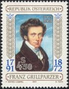 Austria 1991 Franz Grillparzer/ Poet/ Dramatist/ Literature/ Writers/ Authors/ People 1v (at1125a)