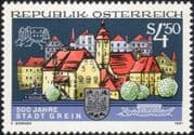 Austria 1991 Grein/ Castle/ Tower/ Buildings/ Architecture/ Heritage/ History/ Animation 1v (at1126a)