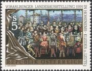 Austria 1991 People/ Traditional Costumes/ Clothes/ Art/ Design/ Paintings 1v (at1128a)