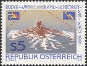 Austria 1991 Rowing/ Canoeing/ Championships/ Sports/ Boats/ Canoes 1v (at1131a)
