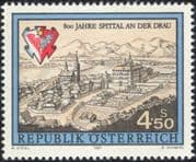 Austria 1991 Spittal an der Drau/ Church/ Clock Tower/ Buildings/ Architecture/ Heritage/ History 1v (at1122a)