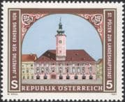 Austria 1991 St Polten/ Town Hall/ Clock Tower/ Buildings/ Architecture/ Heritage 1v (at1132a)