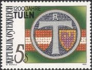 Austria 1991 Tulln/ Town Arms/ Plants/ Heritage/ Coat-of-Arms/History 1v (at1133a)