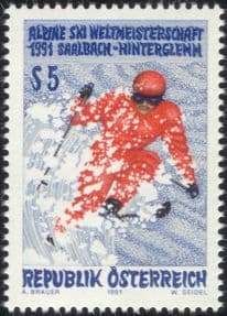 Austria 1991 World Alpine Skiing Championships/ Winter Sports/ Skier 1v (at1121a)