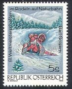 Austria 1992 Toboggan  /  Tobogganing  /  Winter Sports  /  Games  /  Animation 1v (n40786)