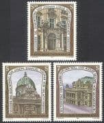 Austria 1993 Architects  /  Buildings  /  Architecture  /  Design  /  Palace  /  Opera 3v set n40619
