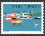 Austria 1993 Boat  /  Steamer  /  Ferry  /  Lake Constance  /  Transport  /  Flags 1v (n40627)