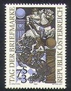 "Austria 1993 Stamp Day/ Horses/ Knights/ Chess/ ""i's"" Design/ Sport/ Games 1v (n32008)"
