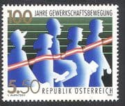 Austria 1993 Trades Union  /  Trade Unions  /  Workers  /  Graph  /  Animation 1v (n40631)