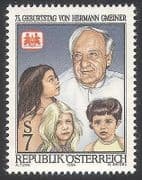 Austria 1994 Hermann Gmeiner  /  SOS Children's Villages  /  Welfare  /  People 1v (n40710)
