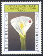 Austria 2000 Arum Lily/ Flowers/ Plants/ Insects/ Ladybird/ Nature/ Garden Show 1v (n29855)