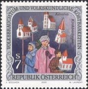 Austria 2000 Folk Customs/ Chapel Procession/ Costumes/ People 1v (at1310)