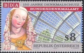 Austria 2000 Protection of Historic Monuments/ Madonna/ Statue/ Palm House/ Buildings/ Architecture 1v (n44372)