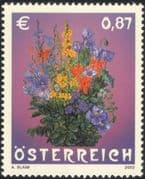 Austria 2002 Bouquet/ Flowers/ Plants/ Nature/ Adolf Blaim/ Art/ Artists 1v (at1143)