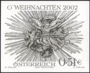 Austria 2002 Christmas/Greetings/Crib Aureole   1v Black only, imperforate (at1141)