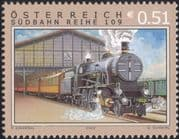Austria 2002 Trains/ Railways/ Rail/ Steam Engine/ Locomotive/ Transport/ Clock 1v (s3147)