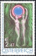Austria 2002 Union of Austrians Abroad 50th Anniversary/ Emblem/ Naked Figures/ Nudes 1v (at1027)