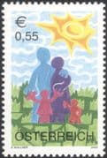 Austria 2003 Children's Stamp/ Family/ Art/ Artists/ Paintings/ Animation 1v (at1211)