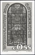 Austria 2003 Christmas/ Greetings/ Nativity/ Angels/ Stained Glass/ Art 1v imperf Black only (at1153)