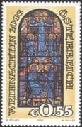 Austria 2003 Christmas/ Greetings/ Nativity/ Angels/ Stained Glass Window/ Art 1v (at1042a)