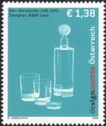 Austria 2003 Design Austria/ Adolf Loos/ Carafe/ Glass/ Glasses/ Business/ Commerce/ Art/ Craft 1v (at1148)