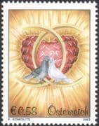 Austria 2003 Doves/ Wedding Rings/ Hearts/ Love/ Greetings/ Animation 1v (at1208)