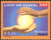 Austria 2003 Light/ Darkness/ Disabled Charity/ Welfare Fund/ Health/ Art/ Television/ Hands 1v (at1149)