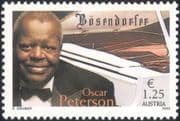 Austria 2003 Oscar Peterson/ Pianist/ Musician/ Piano/ Bosendorfer/ Music/ People/ Musical Instruments 1v (at1146)