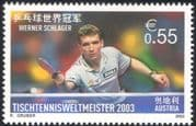 Austria 2003 Walter Schlager/ World Table Tennis Champion/ Sports/ Games 1v (at1040)