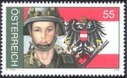 Austria 2004 Austrian Armed Forces/ Military/ Soldiers/ Uniforms/ Federal Army/ Eagle/ Coat-of-Arms 1v (at1001