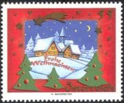 Austria 2005 Christmas/ Greetings/ Houses/ Buildings/ Snow/ Trees/ Animation 1v (at1112)